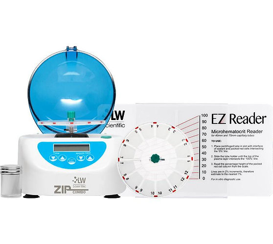 Zip Combo Centrifuge, 12 Place Microhematocrit Rotor (40mm Tubes)