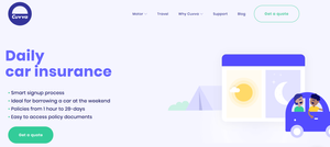 cuvva landing page example