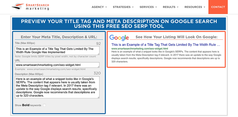 meta description preview tool