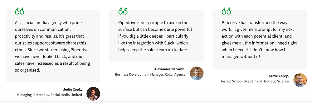 pipeline social proof example