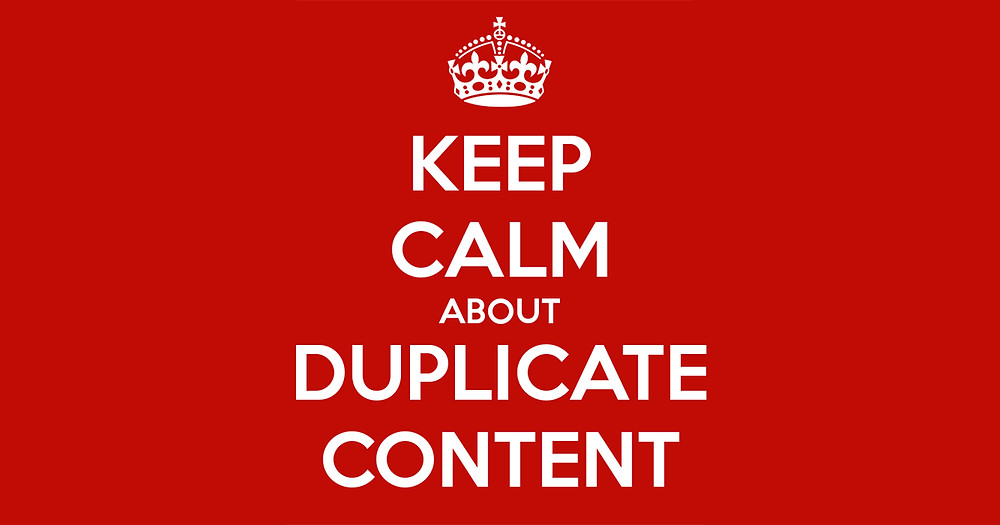keep calm about duplicate content