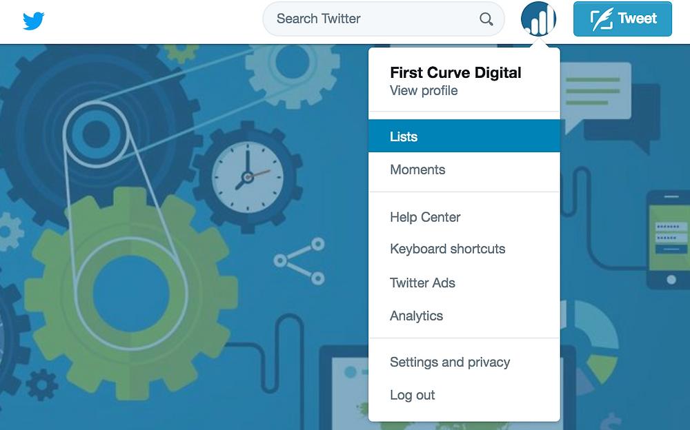 twitter marketing creating a list