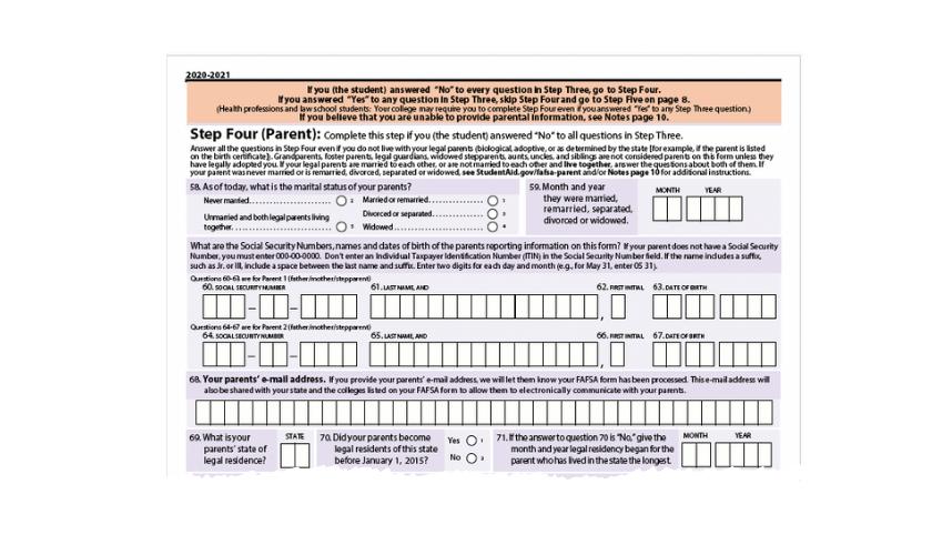 fafsa parent identification questions