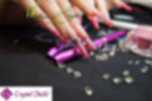 ongles long en résine , gel nails art brignoles var 83170