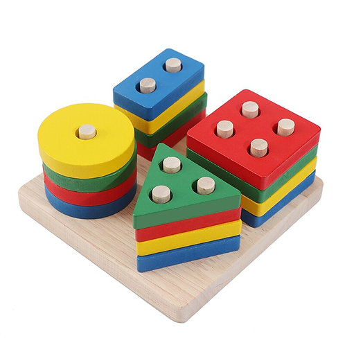 Fine motor and Geometry practice wooden toy