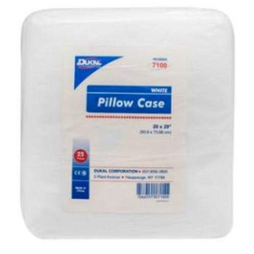 """Dukal Disposable Linens, Pillow Case, Fluid Resistant, White, 20""""x29"""", Non-Steri"""