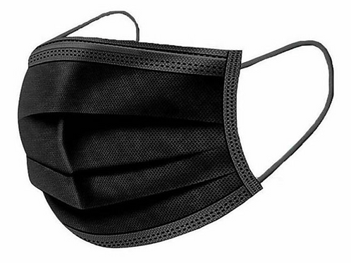 3 Ply Black disposable masks