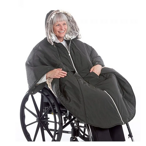 Stylish Wheelchair Cape For Women- Luxurious Fur-Lined Cap