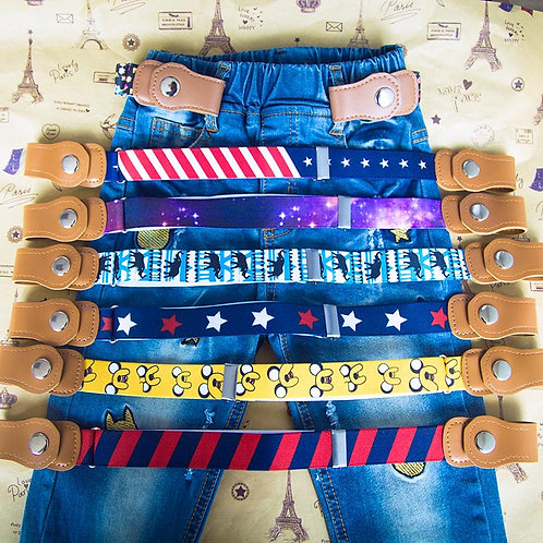 No Buckle Stretch Belts for kids with mobility or sensory issues