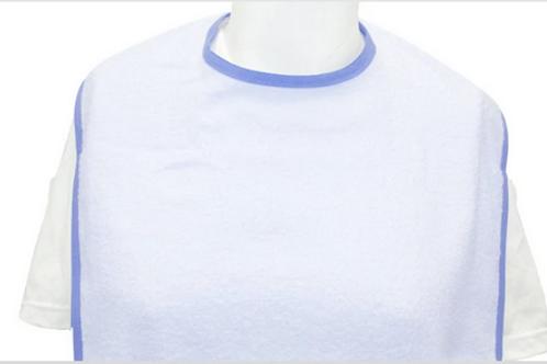 Terry Cloth, Extra Long - Adult bib. Unisex  ( Women/Men)  5 pack