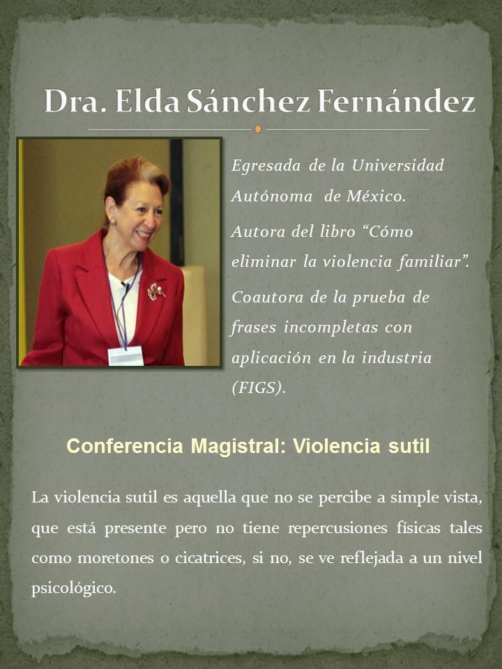 Dra. Elda Sánchez Fernandez