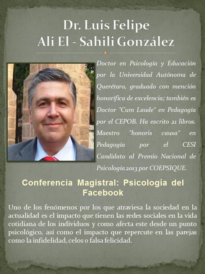 Dr. Luis Felipe Ali El - Sahili Gonz