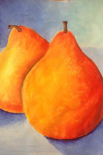 Acrylic paint pears