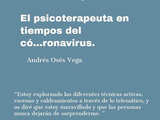 El psicoterapeuta en tiempos del có...ronavirus.