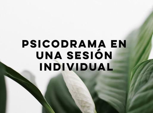 Psicodrama en una sesión individual