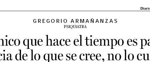 Duelo y fiestas: Entrevista a Goyo Armañanzas (Diario de Noticias).