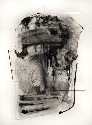 South (Water Table, Ocular #2) Polymer gravure on Hahnemühle Copperplate White paper Edition of 10, with H.C.  39 1/2 x 29 2017