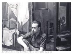 Minaux dans son Atelier rue de Flandres, Paris