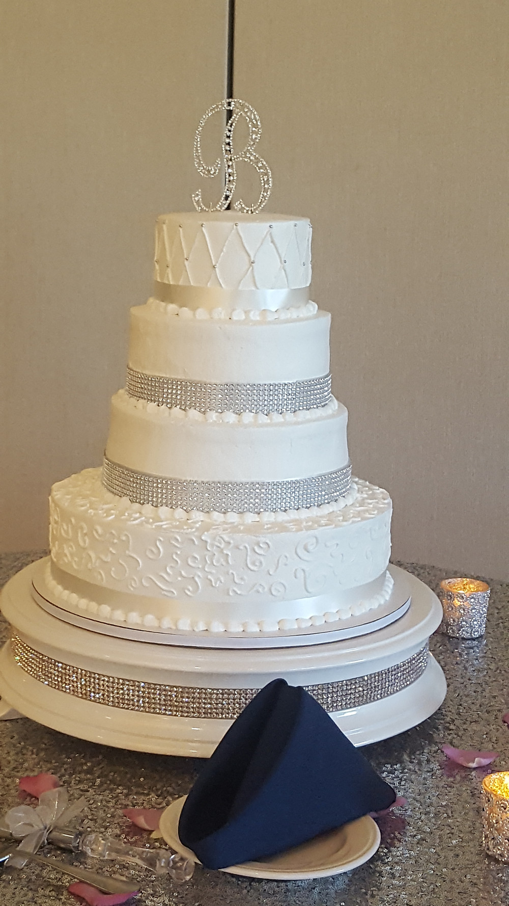 Cake by Cakes by Connie at the Italian Cultural Center, Clinton Twp, Michigan.