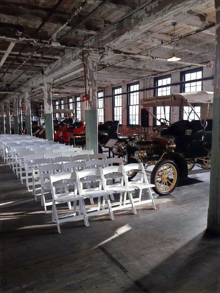 Wedding at the Ford Piquette Plant in Detroit. Music by Rondo String Quartet. www.RondoStringQuartet.com