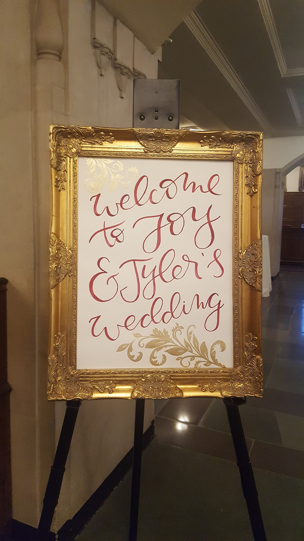 Welcome to Joy and Tyler's wedding, Michigan League, Ann Arbor, MI
