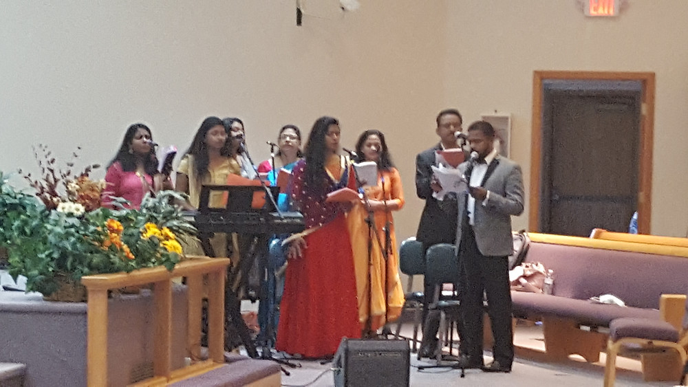 Indian wedding choir at St. Johns Mar Thoma Church. Other ceremony music by Rondo String Quartet. www.RondoStringQuartet.com