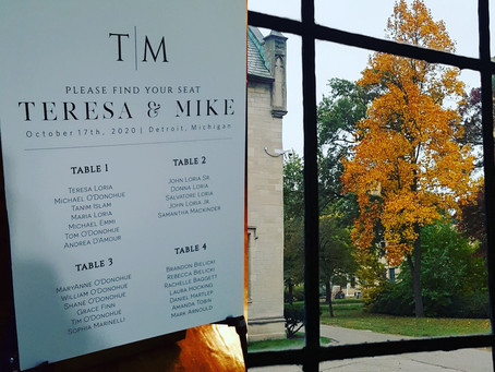 Teresa and Mike Celebrate at Their Wedding at Historic Marygrove College