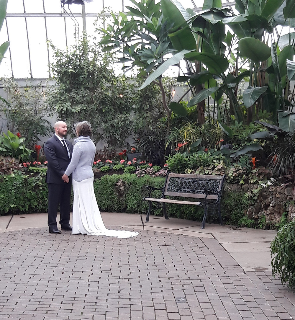 Rondo String Quartet plays for wedding at Belle Isle Conservatory