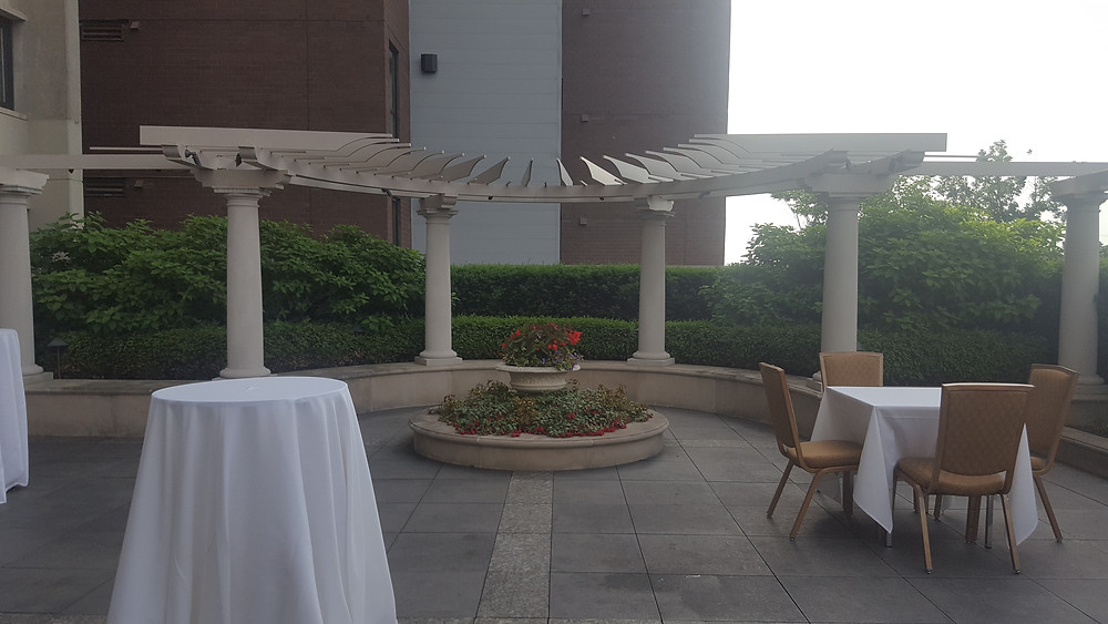 Outside area for event at the Graduate Hotel, Ann Arbor, Michigan