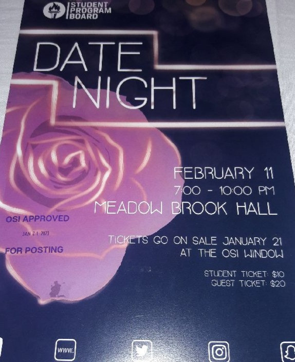 Oakland University's Date Night poster at Meadowbrook Hall, Rondo String Quartet performs