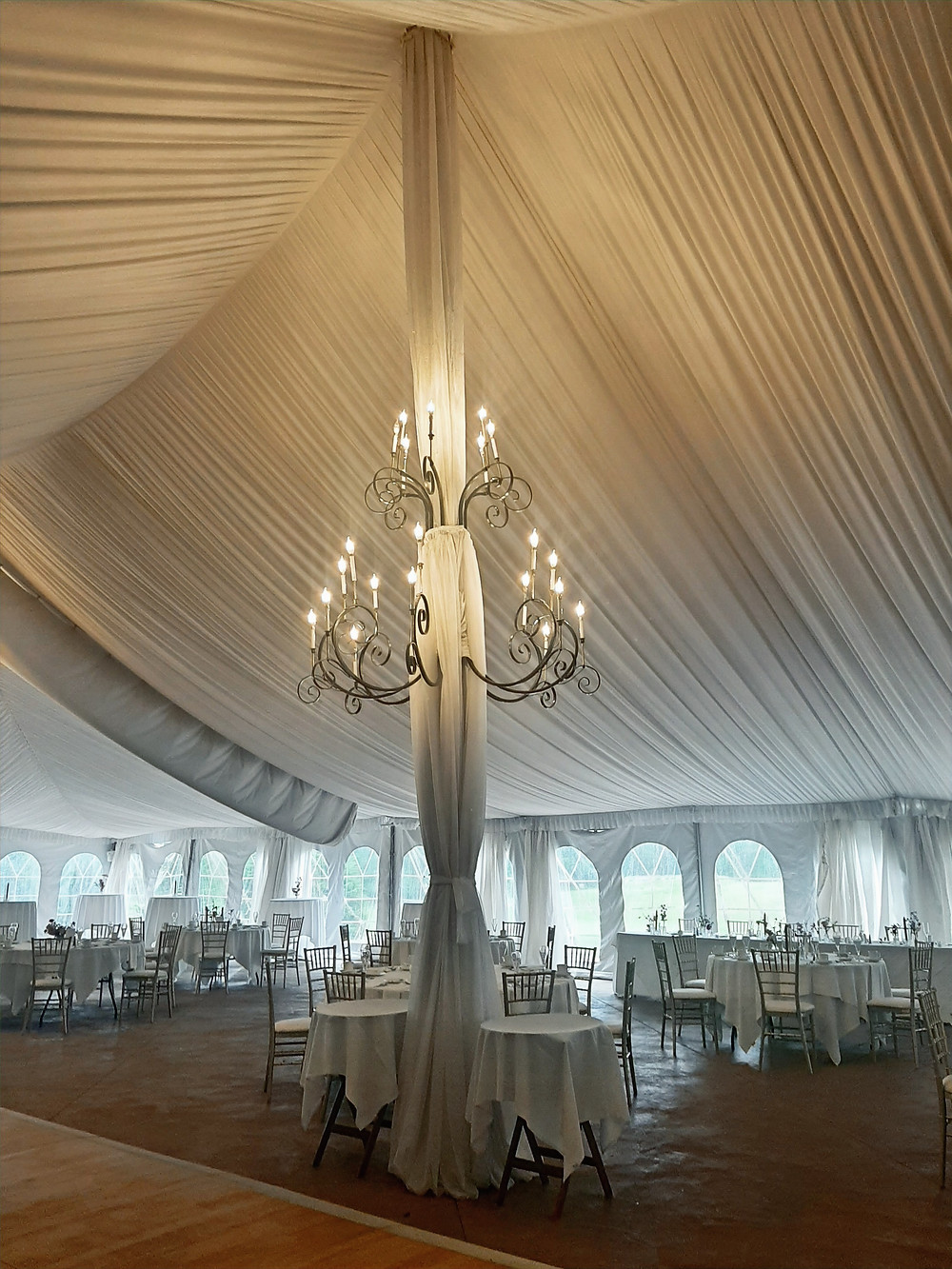 Meadowbrook Hall Tent. Music by Rondo String Quartet.