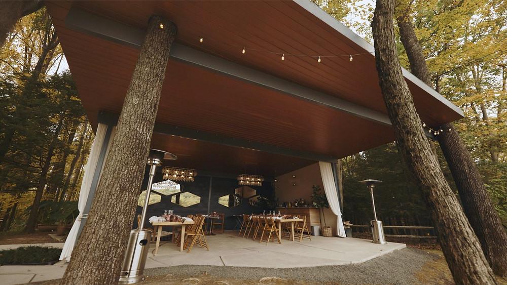 Reception Pavilion at Promise Ridge by Alyssa Kaufman Films