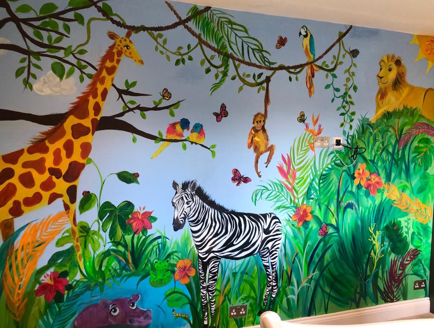 Jungle Children's Bedroom Mural