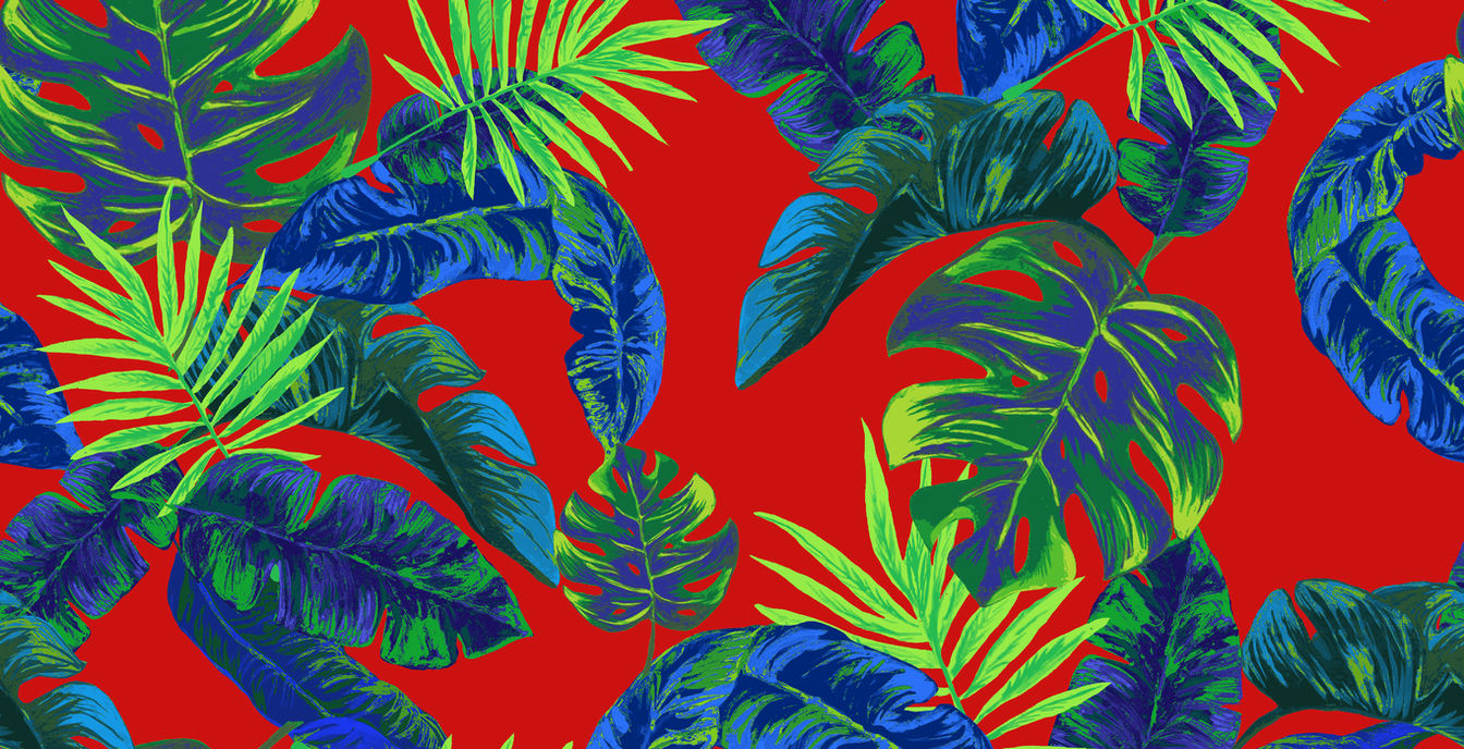 Tropical Stripe, Red