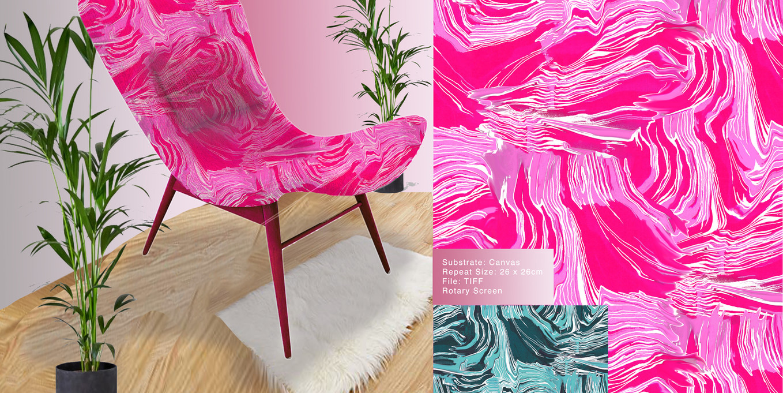 Pink Wave Illustration