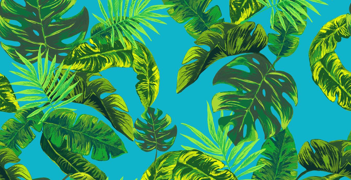 Tropical Stripe, Cyan