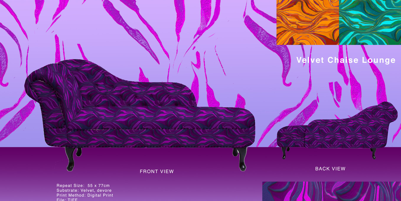 Velvet Chaise Lounge Illustration