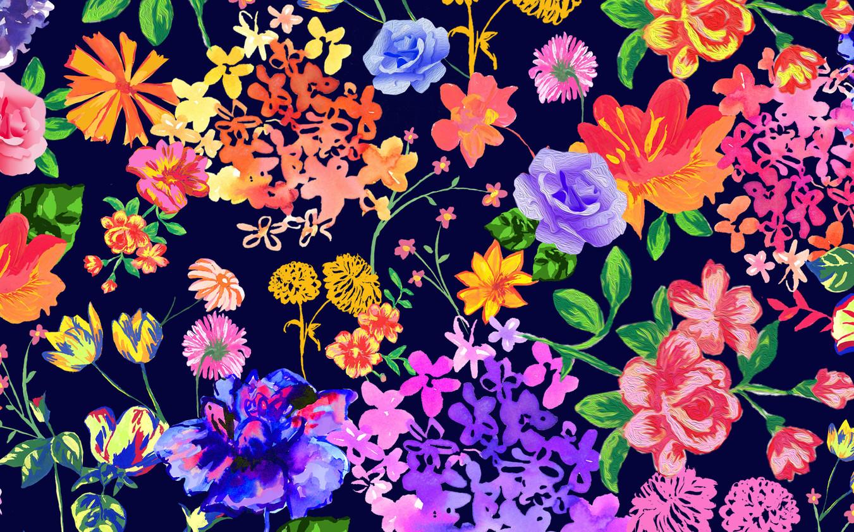 Multi-floral Navy