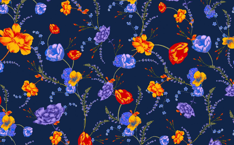 Midnight Garden - Violet Apricot
