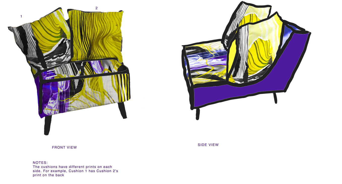 Canvas Collage Chair
