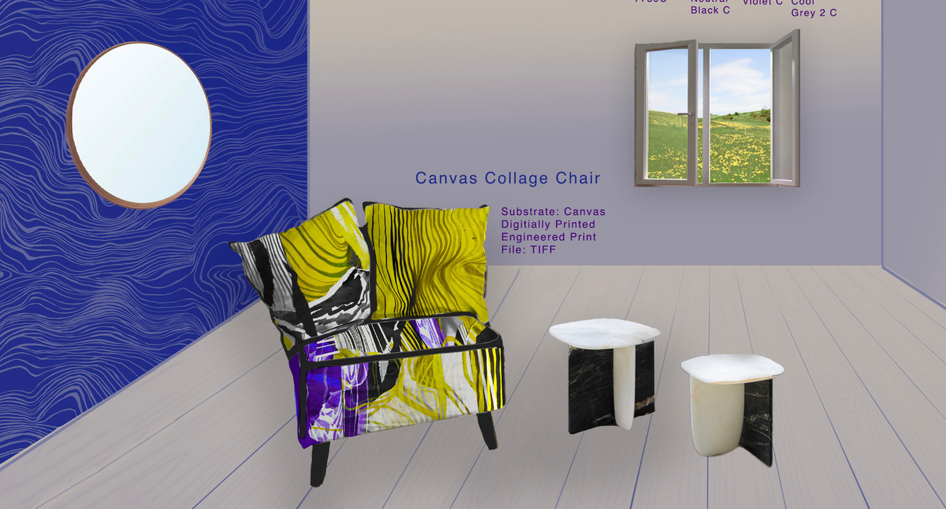 Canvas Collage Chair Illustration