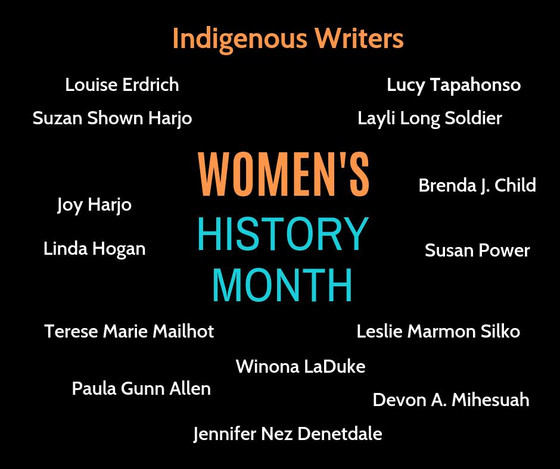 Indigenous Writers for Women's History Month