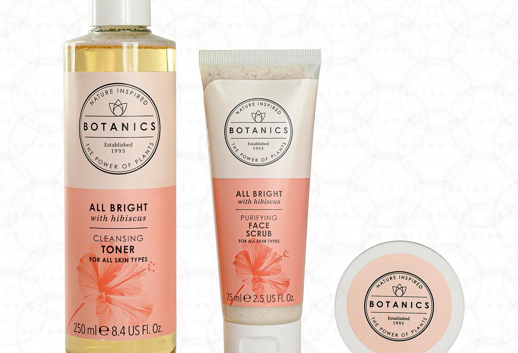 Botanics Cosmetic Set Photography On Whi