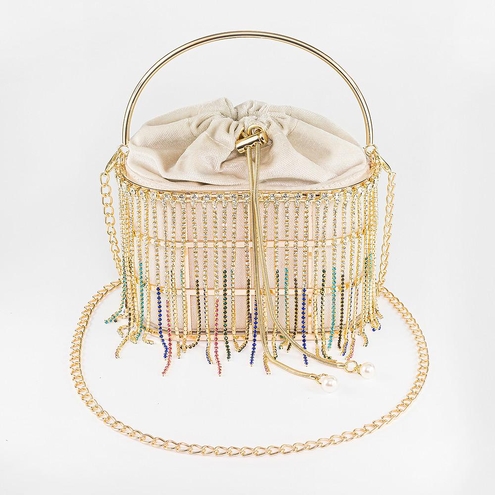 Luxury Golden Jewllery Clutch Bag Photography