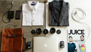 manchester fashion flat lay photography - clothes