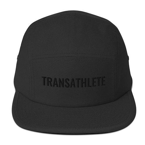 TRANSATHLETE All Black Five Panel Cap