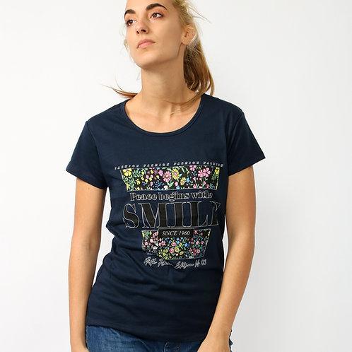 DADA - T-shirt in cotone con stampa - Bianco, Blu