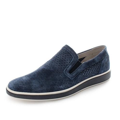 Igi&Co - Sneakers in pelle traforate - Grigio, Blu