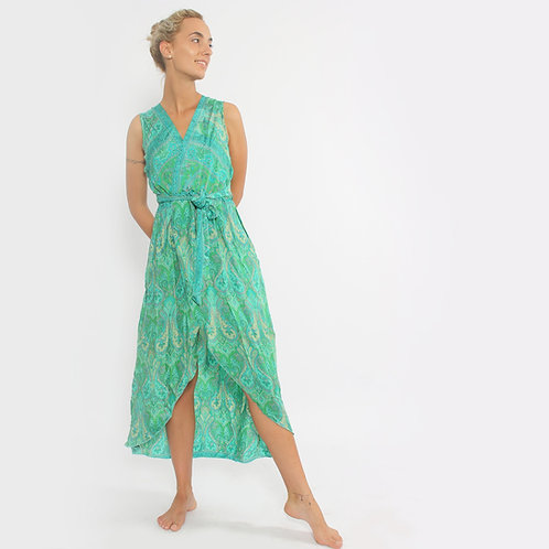 DADA - Vestito a portafoglio in seta - vari colori
