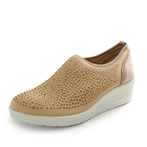 ENVAL - Sneakers slip on con strass